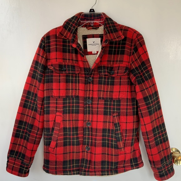 American Eagle Outfitters Other - Sherpa-lined Flannel Jacket